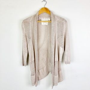Angel of the North Anthropologie Linen Cardigan